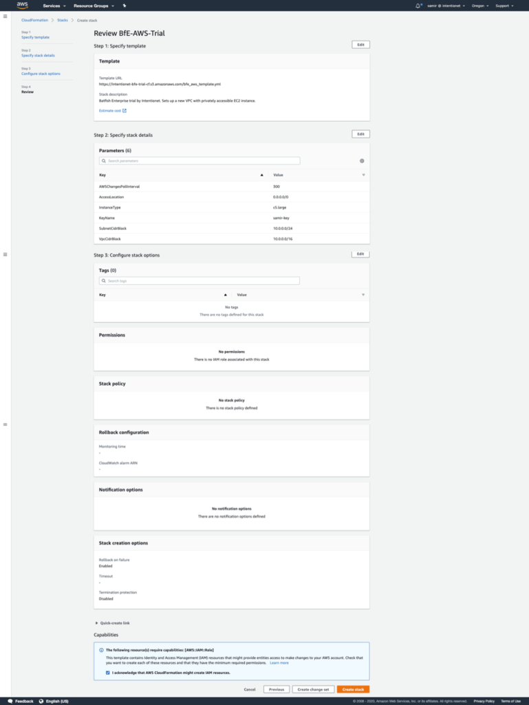 AWS Cloudformation template step 4